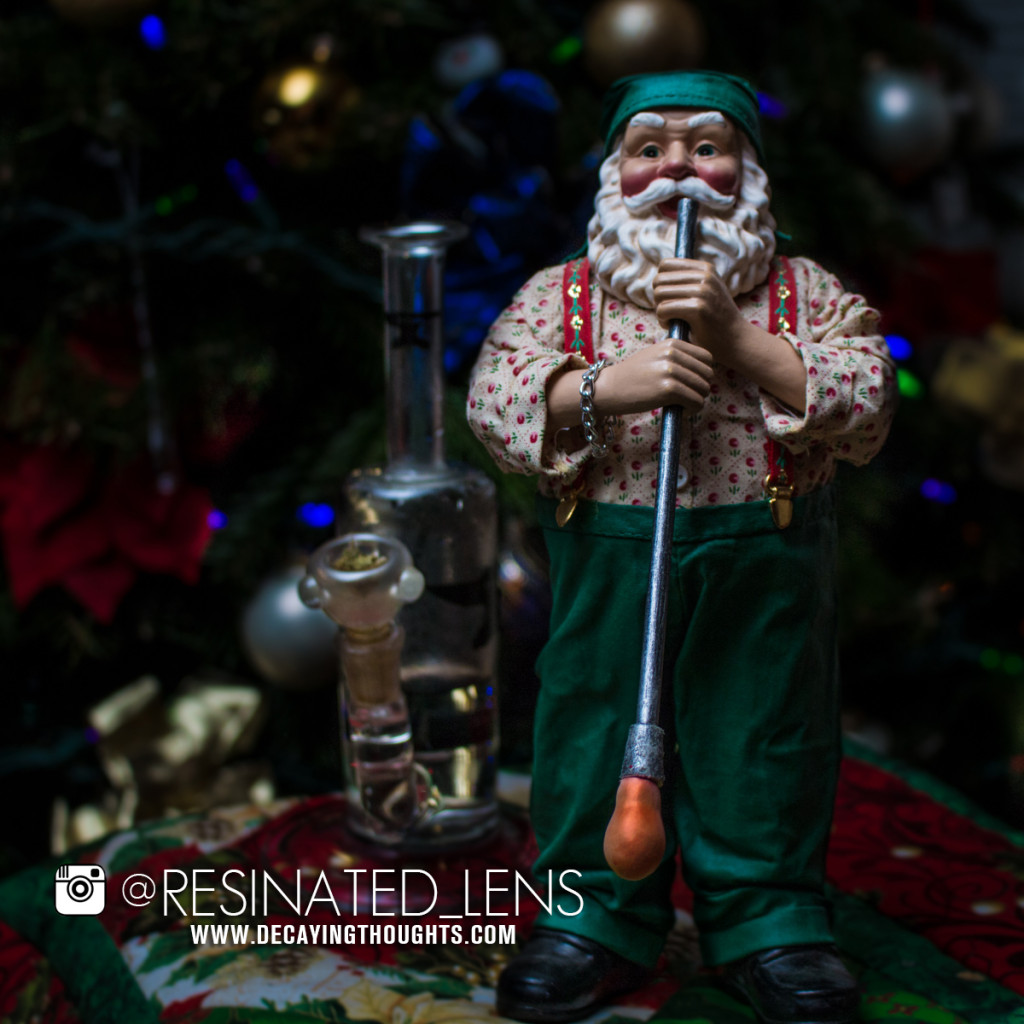 Santa Blowing Glass