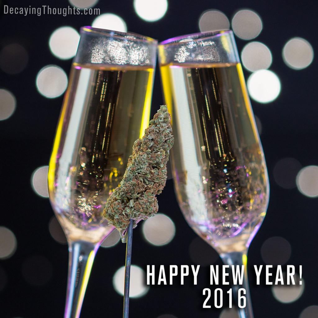 Champagne and marijuana toast for New Years eve