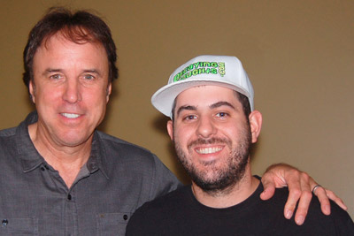 Kevin Nealon & Resinated Lens pose for photo together